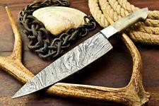 Custom HandMade Damascus Blade Chef Full Tang Knife | Stained Camel Bone