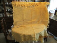"""Simply Home 31.5"""" x 45"""" Yellow Woven Popcorn Like Cotton Throw With 3"""" Fringe"""