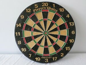 Vintage Sportcraft  Player's Choice Official Bristle Dart Board