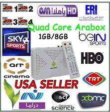NEW 2017 Arabox IPTV-Quad Core- Android-Free Arabic Channels-Africa-World-Movies