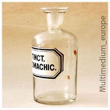 alte Apotheker Glas Flasche um 1900 Tinkt.Stomachic.