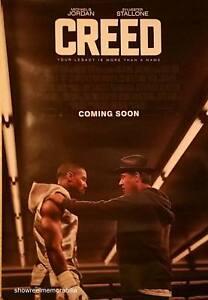 CREED Sylvester Stallone Original 2015 UK cinema 1 sheet movie Poster