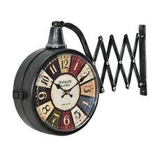 [en.casa] STAZIONE LATI Orologio da parete metallo meccanismo analogico DECO