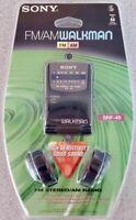 SONY SRF-49 FM/AM Walkman Portable Radio