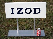 IZOD Store Advertising Sign Double Sided Wood Clothing Display Logo Metal Stand