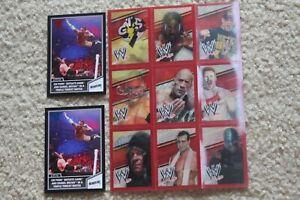 wwe aew cm punk rare 3d lenticular 3 shift card sheet lot 2 insert rock cena gts