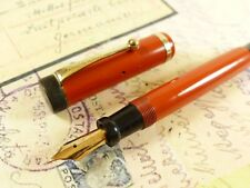 Red Parker Duofold Junior Fountain Pen - restored
