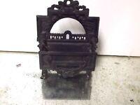 ANTIQUE Pat 1871 ORNATE CAST IRON MATCHSAFE HOLDER MATCH SAFE