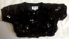 Build A Bear Black Glitter Sequin Jacket Motorcycle Coat Clothes Costume Top