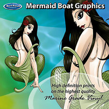 Mermaid Graphics - set of 300mm Boat Graphics