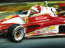 Niki Lauda Ferrari 312 T2 F1 1976 Nurburgring Formula 1 Car Art Print Poster