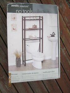 Zenith Interiors No Tools Collection Bathroom Rack