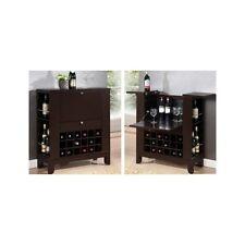 Wine Bar Furniture Mini Cabinet Liquor Storage Wood Home Win Rack Stemware Pub