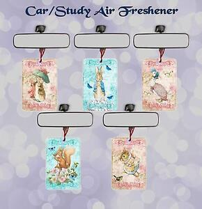 PETER RABBIT CAR/OFFICE/STUDY AIR FRESHENER  SINGLE OR DOUBLE PACK