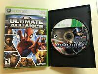 Xbox 360 Avengers Lot - Captain America Super Soldier & Marvel Ultimate Alliance