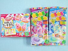 3 PCS SET Kracie Popin Cookin Japanese Candy Making Kit Cake Nerunerunerune New