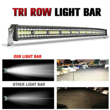 52 INCH 1250W CURVED LED LIGHT BAR 3 TRI-ROW DRIVING OFF-ROAD COMBO DRL FOG 52""