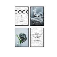 Premium COCO Bilder Set  | Chanel | in A4 | Wandbild mit Spruch | Geschenkidee