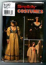 Simplicity 8192 Renaissance Costume Dress Gown Pattern Vintage 1998 Size. 4 6 8