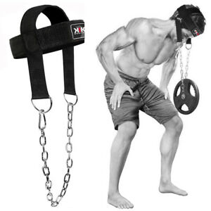 Head Harness Dipping For Strong Muscles Neck Exercise Weight Lifting Gym Chain