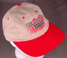 Vtg Hurcules Tires Hat-Tan/Red-Strap Back-Nissun-Wheel Rim Auto Car Truck Van...