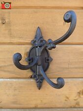 A LARGE SIZE CAST IRON HINGED HOOK, VINTAGE STYLE, 3 HOOKS IN 1, VERY USEFUL