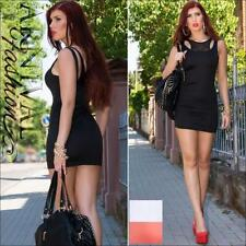 Polyester Stretch, Bodycon Above Knee, Mini Dresses