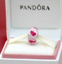 PANDORA Silver Wild Hearts Murano Glass Charm 791649 - New S925 Ale