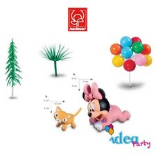 Kit torta BABY MINNIE compleanno festa party disney cake design accessori