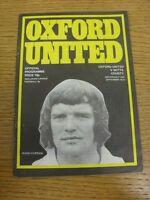 19/09/1973 Oxford United v Notts County  . Footy Progs (aka bobfrankandelvis) ar