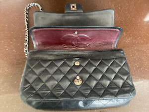 Chanel Quilted Classic Flap Medium Authentic Black Bag