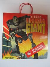 Rare The Iron Giant 1999 Warner Brothers Store Promotional Bag Nm Unused