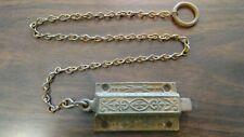 Antique vintage Eastlake Victorian door top latch dead bolt spring lock *