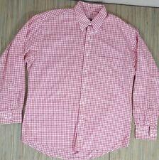 GITMAN BROS Button Down Shirt Checked Pattern L LARGE