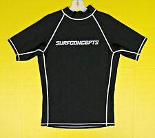 Adult Black RashGuard Surf Dive Swim Shirt L Large UV Spandex USA Sail Fish Rash