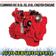 CUMMINS ISC 8.3L ISL 8.9L CM2150 DIESEL ENGINE WORKSHOP SERVICE MANUAL ~ DVD