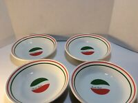"Set Of 4 Made In Italy ""Metrokane"" Pasta Bowls Bistro style 8"""