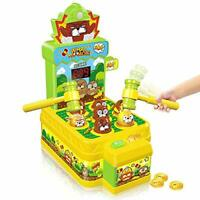 Whack-A-Mole Game, Mini Electronic Arcade Game Toy, Pounding Bench Coin game