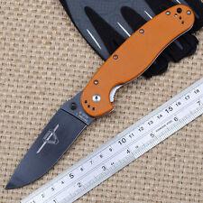 Ontario RAT Model 1 Classic Knife Outdoor Orange G10 handle AUS-8 steel gift EDC