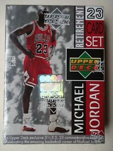 1999 MICHAEL JORDAN RETIREMENT 23 CARD SET SEALED CHICAGO BULLS