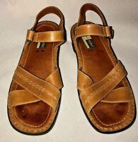 JOSEF SEIBEL Womens Brown Leather  Slip on Sandals-Size 10 (40) EUC