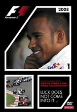 FORMULA ONE Season Review 2008 LUCK DOES NOT COME INTO IT 2 DVD LEWIS HAMILTON