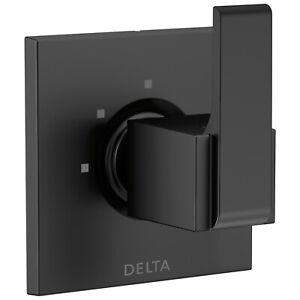 DELTA Ara Wall Mount Diverter Trim Kit in Matte Black (NO Valve) T11867-BL
