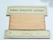 carte rouleau ruban ancien pon satin rayonne 10Metres rose 1,2cm  card ribbon