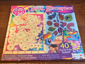 MY LITTLE PONY ~ Crystal Masterpiece Sticker By Number ~Wooden Frame 40 Stickers