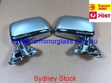 NEW DOOR MIRROR FOR TOYOTA HILUX 1988-2005 (MANUAL CHROME) PAIR