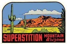 Superstition Mountain AZ Arizona Grand Canyon Vintage Style Travel Decal Sticker