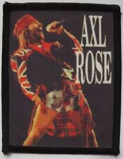 AXL ROSE ' SINGING '  vintage sew  on washable printed  patch