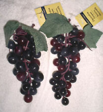 "6"" Long Cluster of Soft Plastic Grape Clusters in Dark Purple & Reddish Purple"