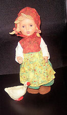 "Vintage Era Mi Hummel Goebel 12"" Vinyl Doll Girl with Goose Htf Guc"